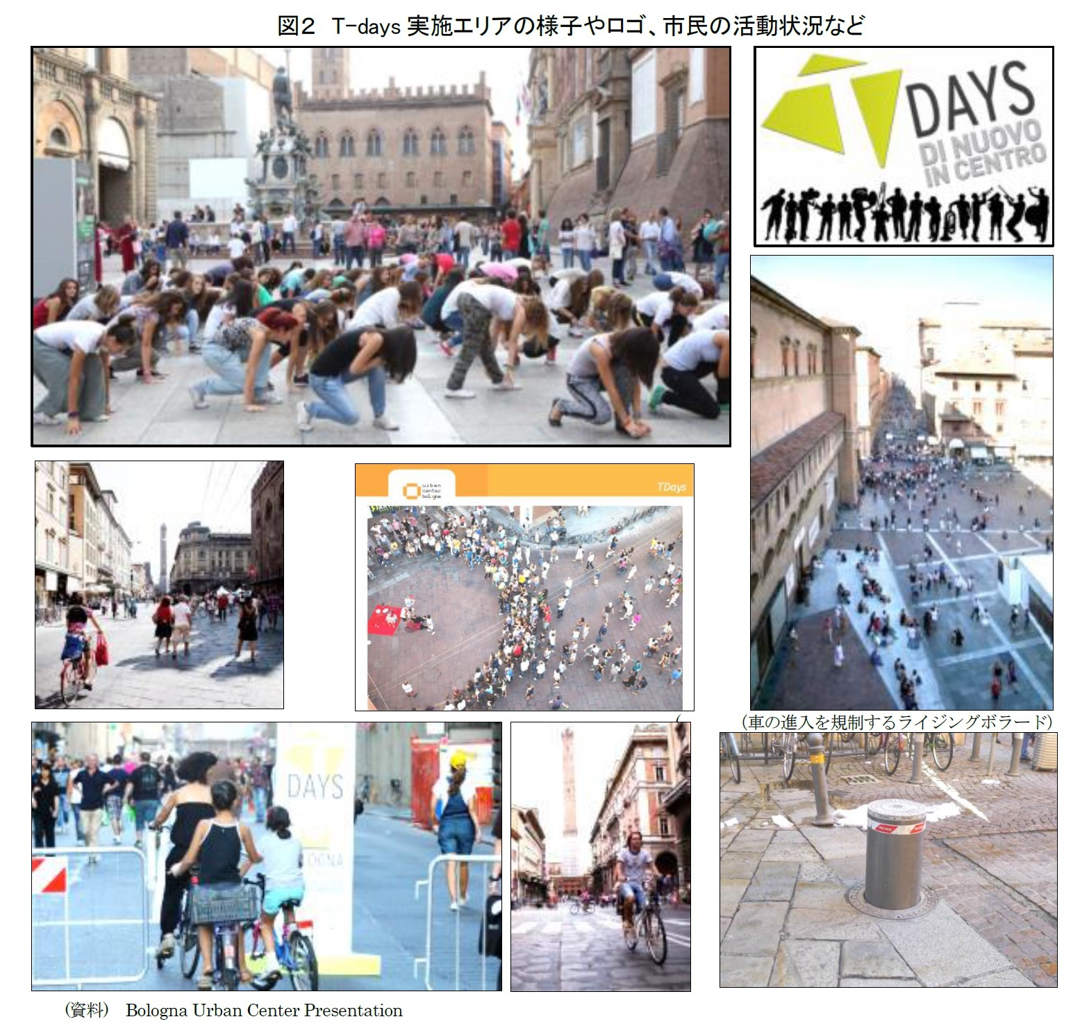 図2 T-days実施エリアの様子やロゴ、市民の活動状況など