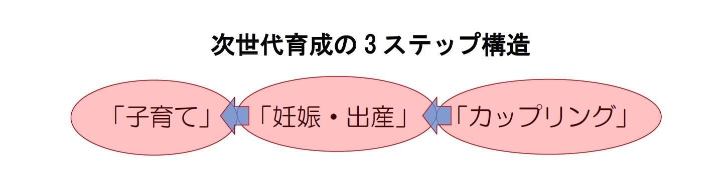 次世代育成の3ステップ構造