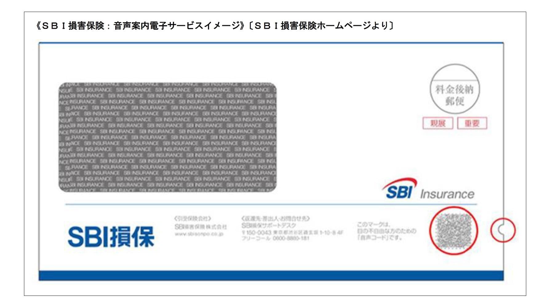 SBI損害保険:音声案内電子サービスイメージ