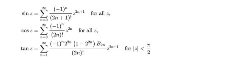 級数による定義