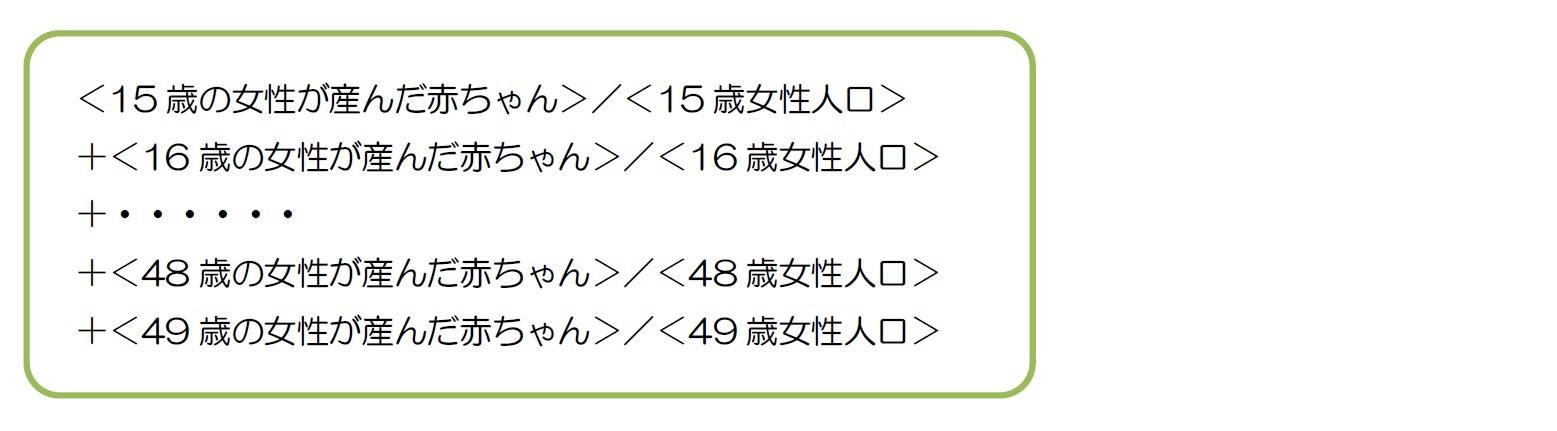 TFRの計算式