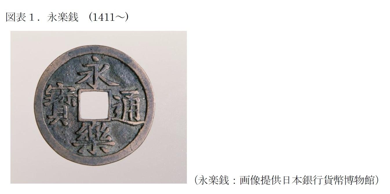 図表1 永楽銭:画像提供日本銀行貨幣博物館