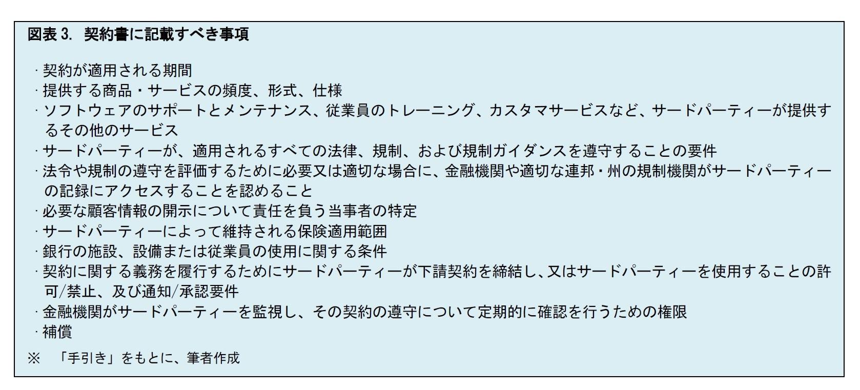図表3. 契約書に記載すべき事項