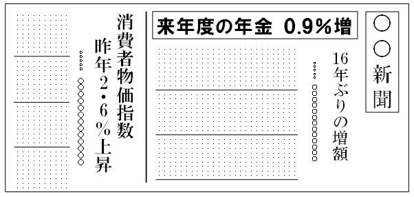 新聞1面のイメージ図